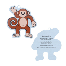 Oakcoins Travel Tag - Bonobo the Monkey