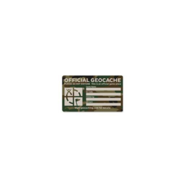 Groundspeak large cache label - camouflage groen
