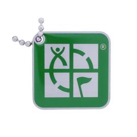 Groundspeak Logo tag – groen