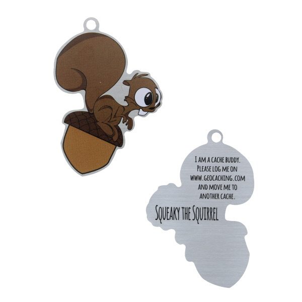 Oakcoins Travel Tag - Squeaky the Squirrel