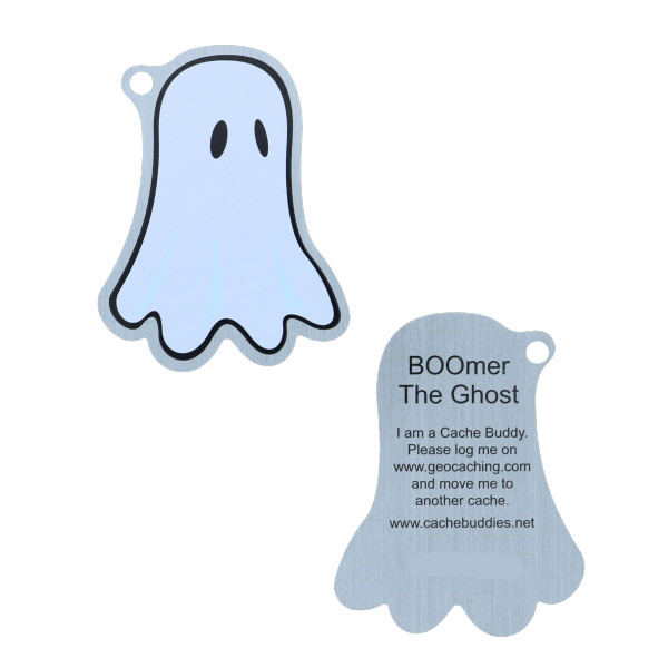 BOOmer-the-ghost travel tag Halloween