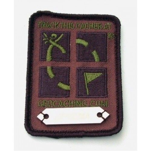 Groundspeak Trackable patch - Geocaching logo camouflage