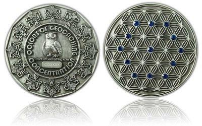 CacheQuarter Colors of Geocaching  - blauw / antiek zilver