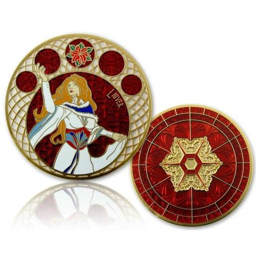 CacheQuarter 4 Seizoenen coin Winter - satijn goud XLE