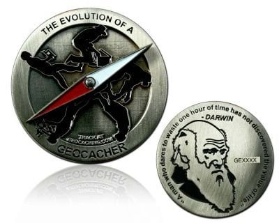 CacheQuarter Evolutie van de Geocacher - antiek zilver