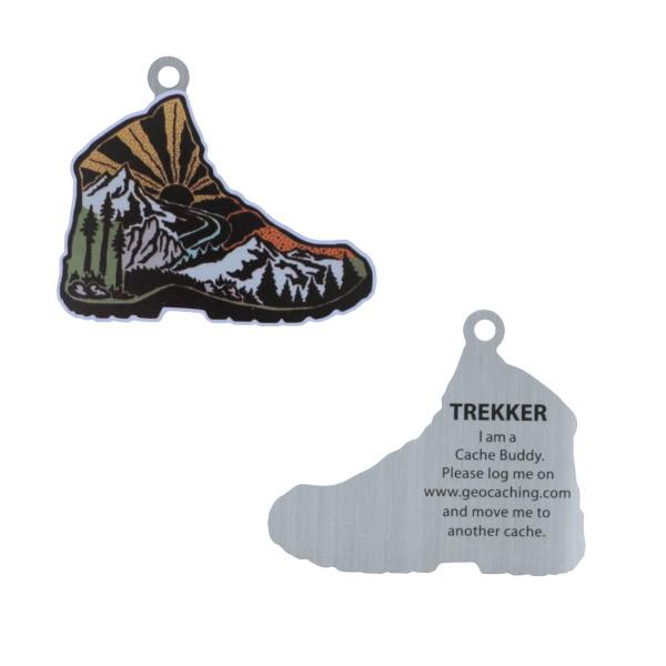 Oakcoins Travel Tag - Trekker the Hiking Boot