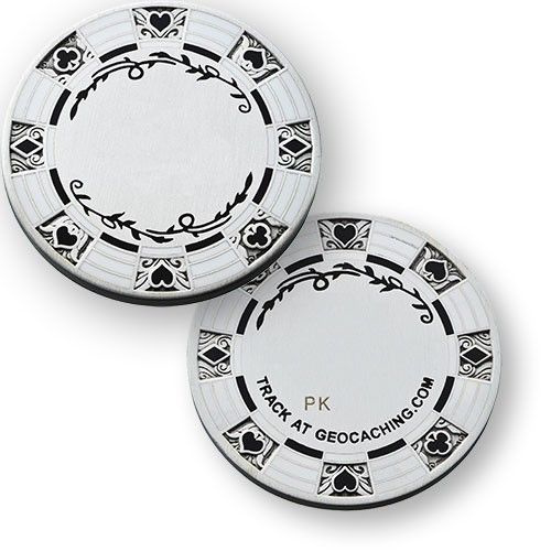 Coins and Pins Casino Poker coin - zilver