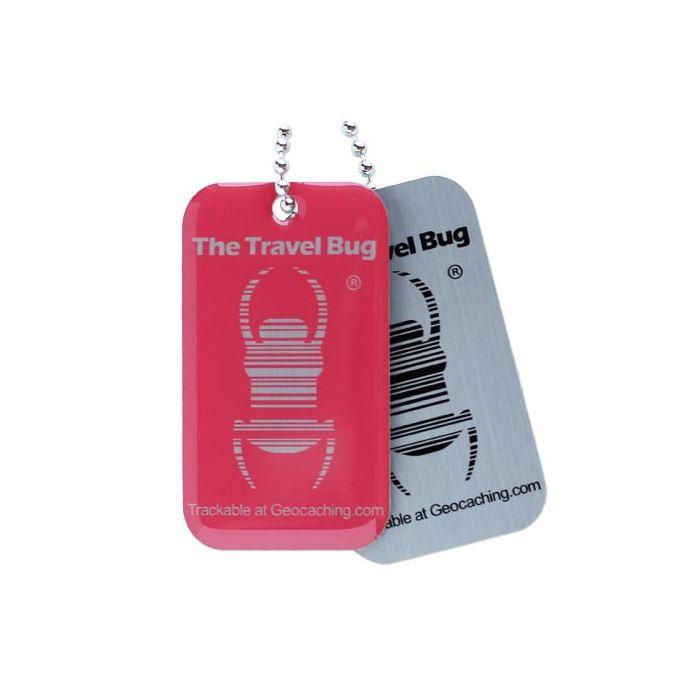 Groundspeak Travel Bug QR Tag - Roze