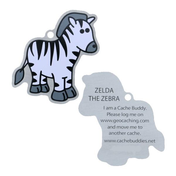 Oakcoins Travel Tag - Zelda the Zebra