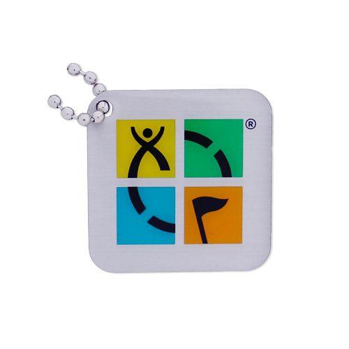 Groundspeak Logo tag – vier kleuren