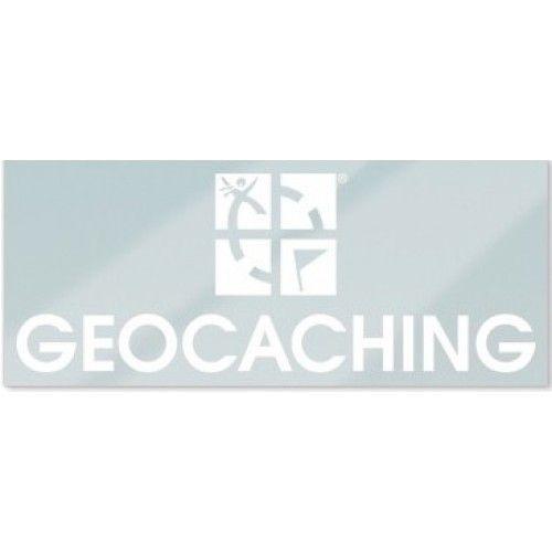 Groundspeak Statische sticker Geocaching logo - wit