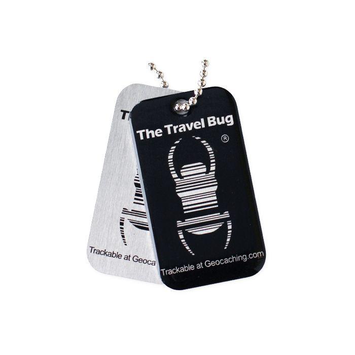 Groundspeak Travel Bug QR Tag - Zwart