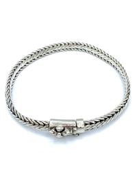 Heren armband Barong zilver