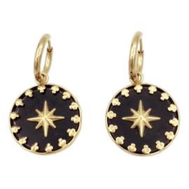 Oorbel black star