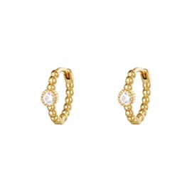 Oorbel Pearls in a row gold