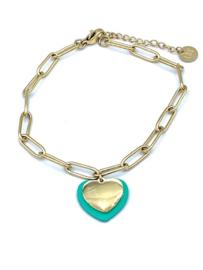 Armband Dubbel hart