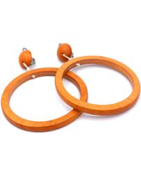 Clip Oorbel Oranje