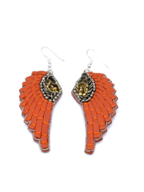 Oorbel Wings orange