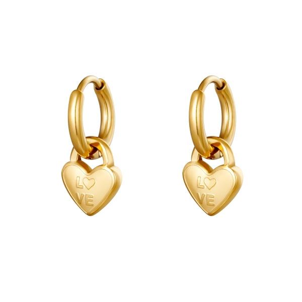 Oorbel Locked in love