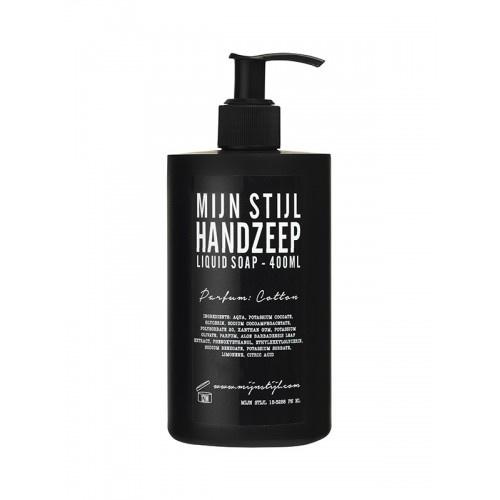 Handzeep parfum Cotton 400 ml (zwart)
