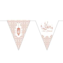 Vlaggenlijn 'Eid Mubarak' (Metallic, 6 meter)