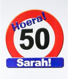 Verkeersbord ''50 jaar'' (Sarah)