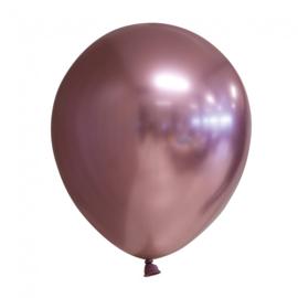 Ballonnen Chroom ''Rosegoud'' (10 stuks)