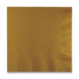 Servetten glitter. gold (33x33cm, 20 stuks)