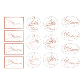 Labels 'Eid Mubarak' (14 stuks)