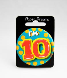 Button ''10 jaar'' (Klein)