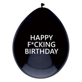 Ballonnen ''Happy f*cking'' (6 stuks)