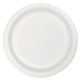 Bordjes white (Ø23cm, 8 stuks)