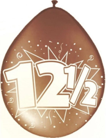 Ballonnen ''12,5 jaar brons'' (30cm, 5 stuks)
