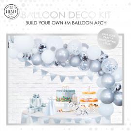 Ballon deco kit ''Zilver''