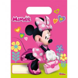 Uitdeelzakjes ''Minnie mouse'' (6 stuks)