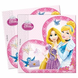 Servetten ''Prinsessen'' (20 stuks)