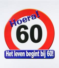 Verkeersbord ''60 jaar''