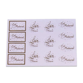 Cadeau labels transparant (14 stuks)