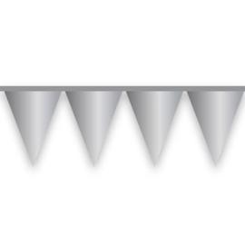 """Vlaggenlijn """"Mat Zilver'' (10 meter)"""