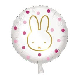 Folieballon ''Nijntje Roze'' (45cm)