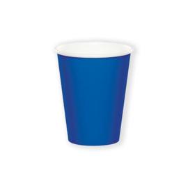 Bekertjes cobalt blue (266ml, 8 stuks)