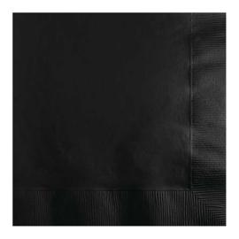 Servetten black velvet (33x33cm, 20 stuks)