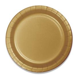 Bordjes glittering gold (Ø23cm, 8 stuks)