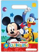 Uitdeelzakjes ''Mickey mouse'' (6 stuks)