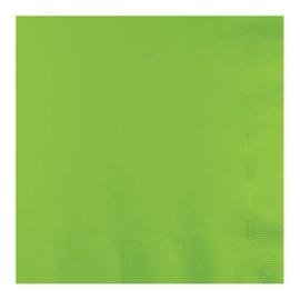 Servetten fresh lime (33x33cm, 20 stuks)