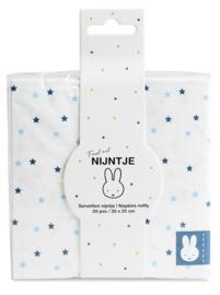 Servetten ''Nijntje baby Blauw'' (25x25cm, 20 stuks)