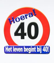 Verkeersbord ''40 jaar''