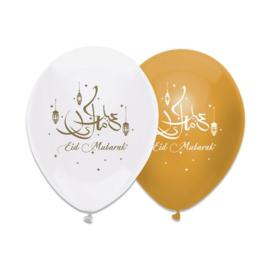Ballonnen ''Eid Mubarak'' (6 stuks)
