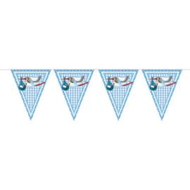 Vlaggenlijn ''Ooievaar geboorte jongen'' (10 meter)