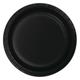 Bordjes black velvet (Ø23cm, 8 stuks)
